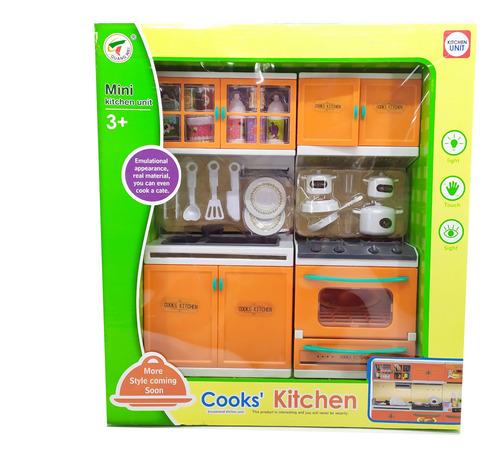 set mini cocina con luces juguete niños didáctico