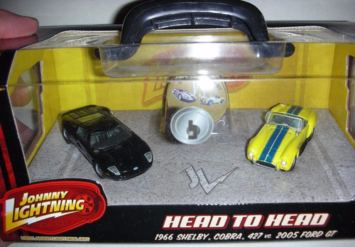 set miniaturas johnny lightnning shelby cobra/ford gt novo !