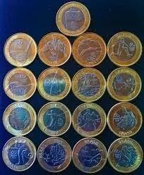 set moedas olímpicas
