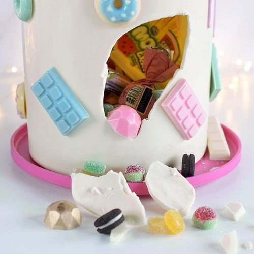set molde cake sorpresa chica - torta piñata 15x20 parpen