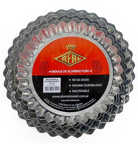 set molde*5 tartera desmontable aluminio nº22-24-26-28-30