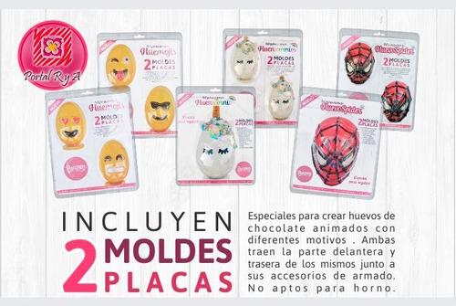 set moldes placas huenicornio / unicornio de 15cm parpen