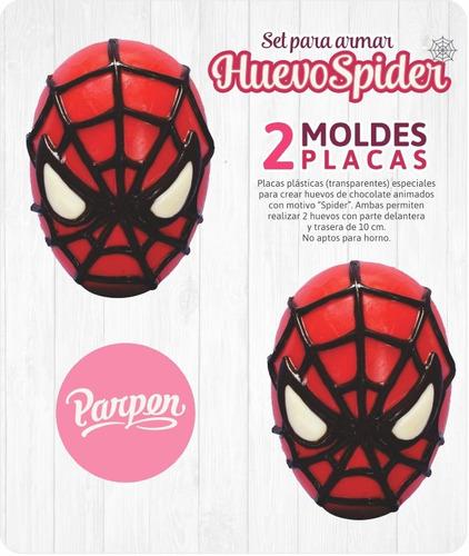 set moldes placas spider homb araña de 10cm parpen