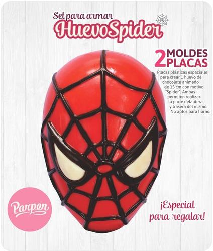 set moldes placas spider homb araña de 15cm parpen