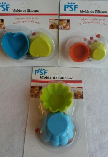 set moldes silicon psf (3 figuras  cup cake) hogar y cocina.