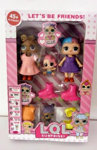 set muñecas lol bebe + accesorios