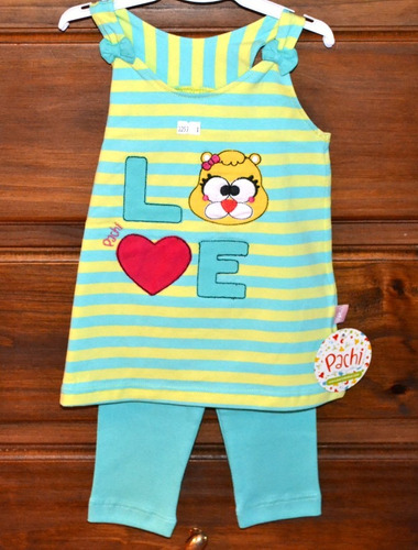 set musculosa + calza pachi 3 colores 9-18 m little treasure