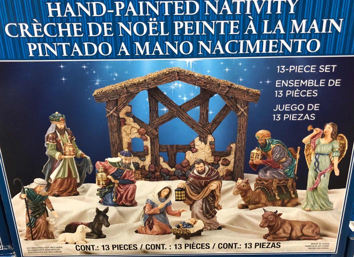 9aee9e1a0ae Set nacimiento navideño piezas pintado a mano elegante cargando zoom jpg  1200x870 Imagenes de nacimiento navideno