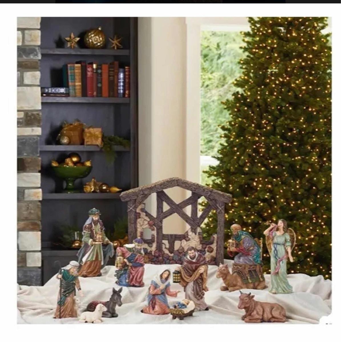 c68d8bacd0e Set nacimiento navideño piezas pintado a mano elegante cargando zoom jpg  1195x1200 Imagenes de nacimiento navideno
