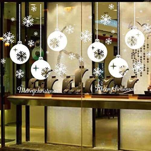 Set Navidad Para Decorar Ventanas 399 00 En Mercado Libre