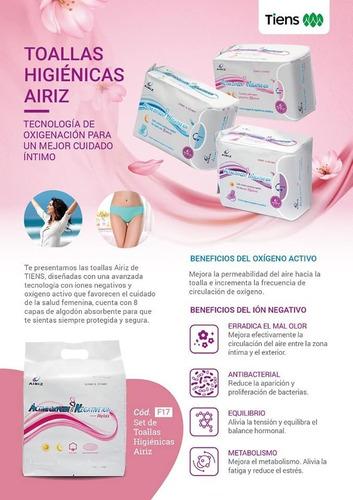 set o unidades de toallas higiénicas medicinales airiz tiens