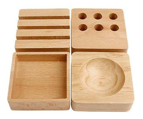 set organizador de madera para escritorio