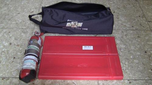 set original de matafuego y valisas