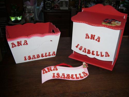 set pañalera y porta cosmeticos + cartel bienvenida !!