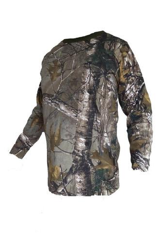 set pantalon y playera l camuflaje caceria profesional caza