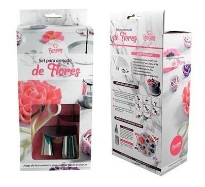 set para armado de flores parpen - repostería pasteleria