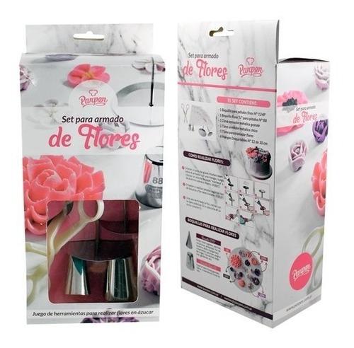 set para armado de flores y decorar tortas parpen
