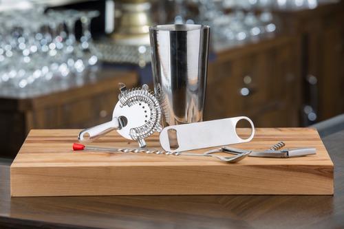 set para bar/ coctelería 8 pz acero inoxidable tablecraft