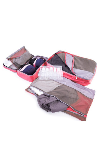 set para empacar samsonite female packing set / coral / gris