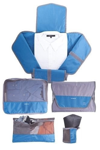 set para empacar samsonite male packing set / gris / azul