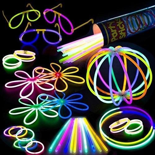 set para fiesta de neon surtidos hora loca 100 varitas y mas