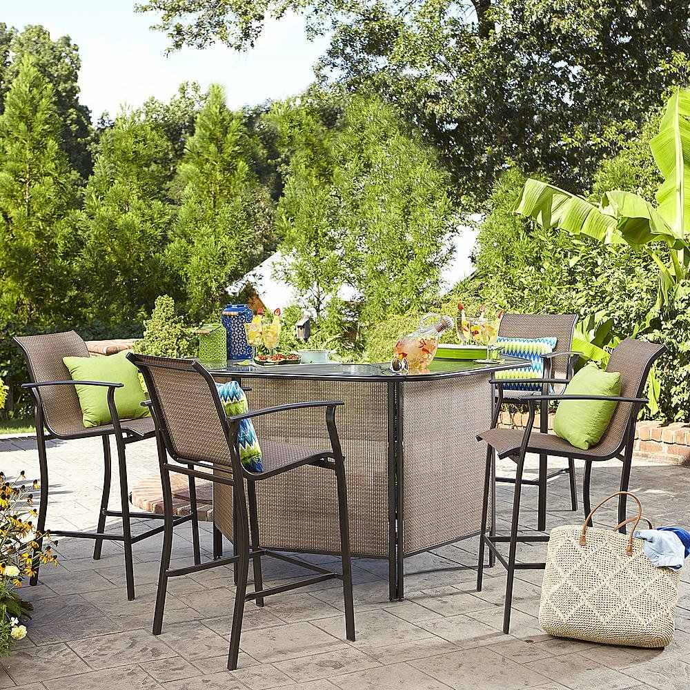 Set Para Patio O Jardin Mesa Bar De 5 Pcs 9 200 00 En