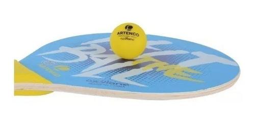 set para tenis de playa artengo 2 raquetas 1 pelota