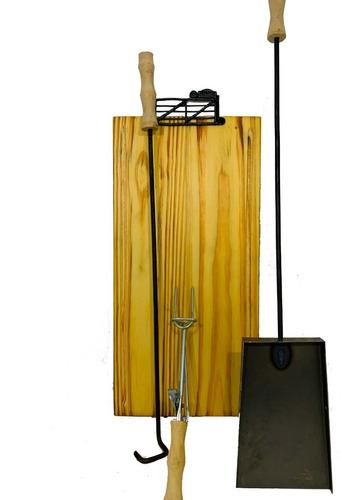 set parrillero accesorios asado asador herramientas kit x 4