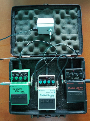 set pedal boss - super phaser / digital delay / metal zone