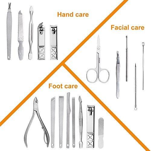 set pedicura manicura cortaúñas kit manicura acero inoxidabl