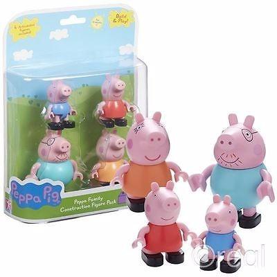 set peppa pig figuras muñecos familia de construccion tv
