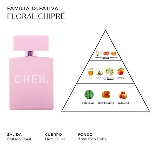 set perfume mujer cher dieciocho 100 ml edp + talla 20 ml