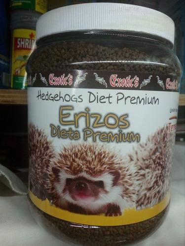 set p/erizo y sus cuidados alimento,shampu y anti-acaros