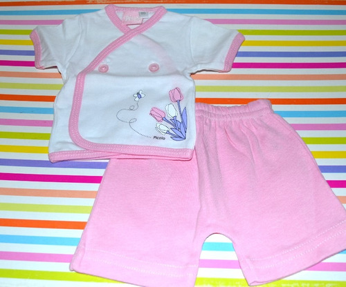 set picolo batita y short 2 colores talle 00 little treasure