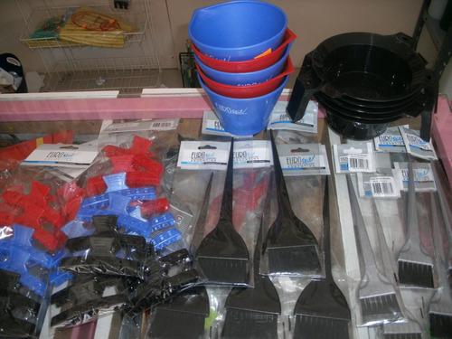 set pinceles de tintura, bols, peines