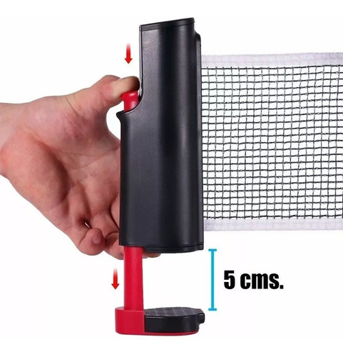 set ping pong 2 paletas + 3 pelotas + red retractil - olivos
