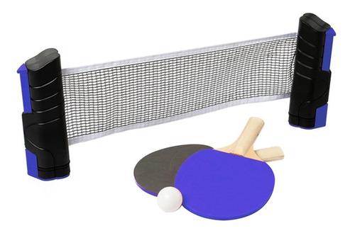 set ping pong pórtatil red extensible +2 paletas +3 pelotas