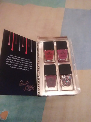 set pinturas de uñas paris hilton holiday glam nail polishes