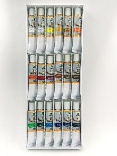 set pinturas oleos tubos x 18 unidades
