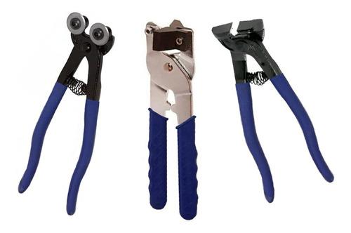 set pinza + alicate mosaiquismo qep venecitas 3 herramientas