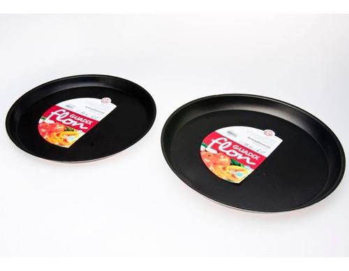 set pizzera teflon guadix flon x 2 unidades para horno