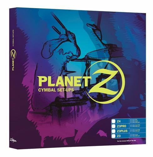 set platillos zildjian pz1418 planet z hh 14 + crash r 18 6p