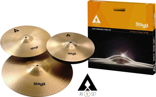 set platos stagg axk hihat 14 + ride 20 + crash 16 + funda
