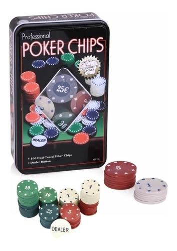 set poker 100 fichas caja metal poker chips juegos mesa