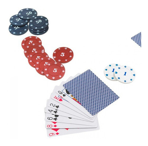 set poker 200 fichas + paño black jack texas holdem