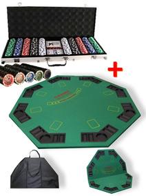 Mesa 500 Plegable FichasMaletin Bolso Poker Set 8kXP0wnNO