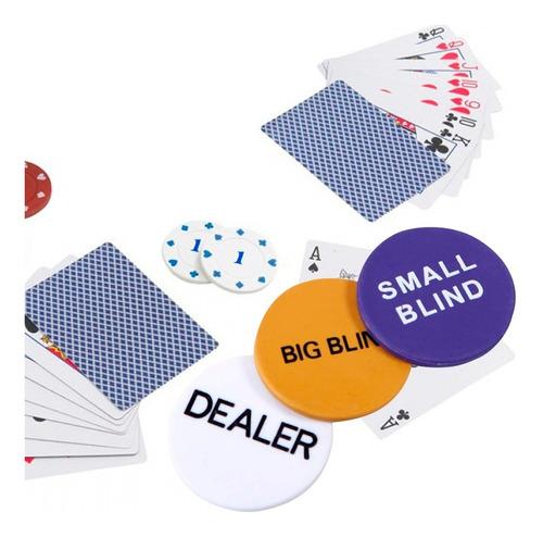 set poker profesional 200 fichas + paño black jack