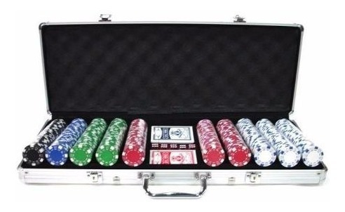 set poker profesional 500 fichas 11,5gr  + maleta aluminio
