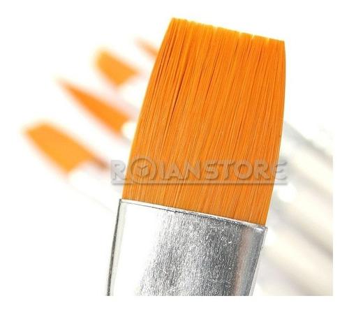 set premium de 10 pinceles pelo sintético y mango de madera