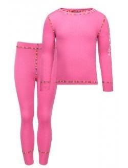 set primera capa rosada camiseta + calza kozikidz